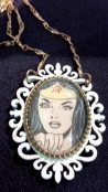 Hand-Crafted Wonder Woman Cameo necklace