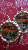 """Southern Culture On The Skids """"Double Wide"""" Album Cover Art Earrings for Mary (The Vogue)"""