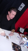 """Presenting """"Steampunker"""" and other pieces to James Marsters"""