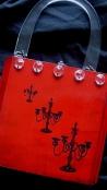 """""""Goth Girl"""" Art Handbag for Charlaine Harris (Carmel Barnes & Noble)"""