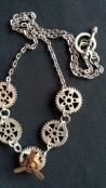 Vintage Gears Necklace
