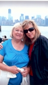 My mom and I visiting the Statue of Liberty